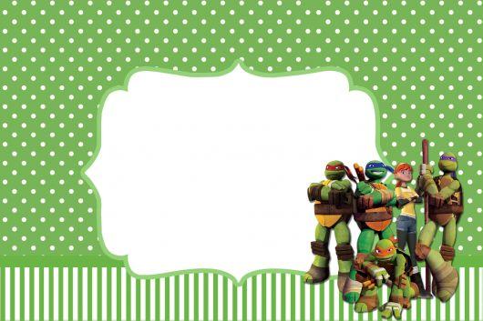 convite pronto tartaruga ninja
