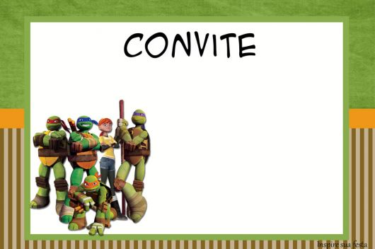 convite de festa tartaruga ninja para imprimir