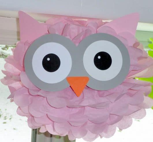 minha festa corujinha rosa
