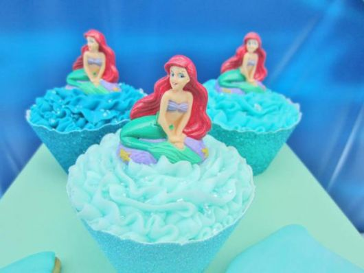 cupcakes decorados Ariel Disney