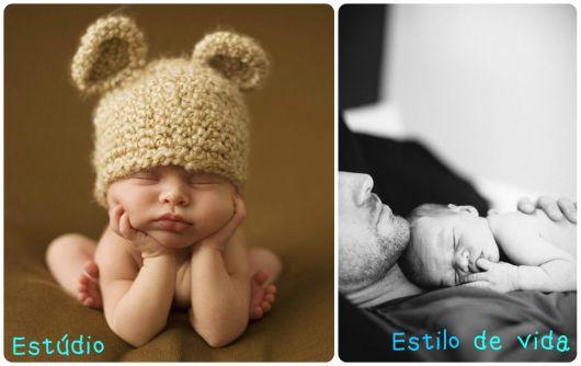 o que é ensaio newborn lifestyle e estúdio