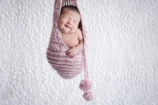 ensaio newborn cesto de lã