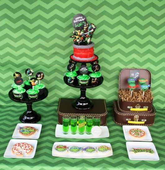 decoração para festa tema tartarugas Ninja