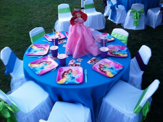 festa ariel centro de mesa