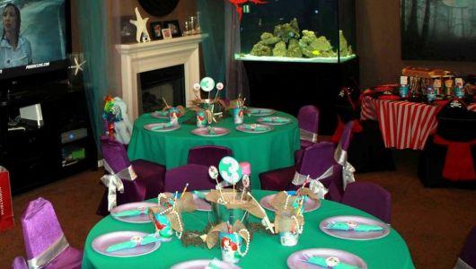 foto de decoração de mesa Ariel Disney