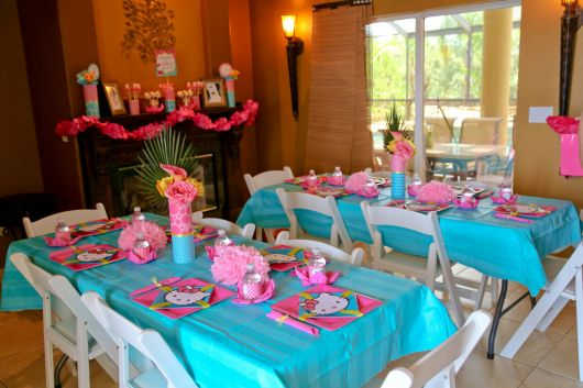 fazendo minha festa corujinha azul com rosa