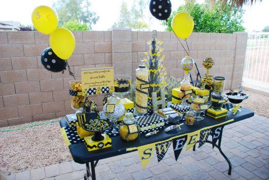 como fazer aniversário abelhinha simples