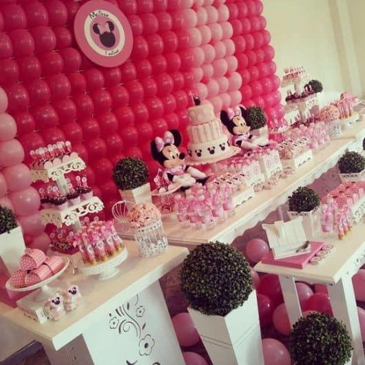 festa da minnie rosa 1 ano