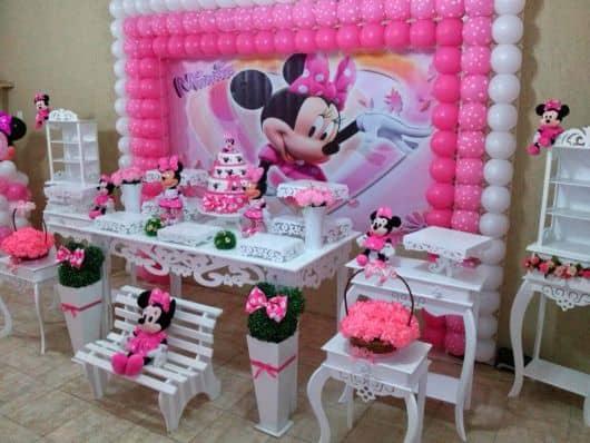 como fazer festa minnie rosa