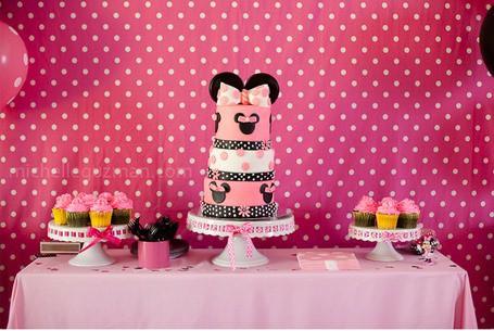foto festa de aniversario da minnie rosa
