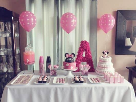 Festa da minnie rosa tudo sobre - Minnie mouse baby shower decorations ...