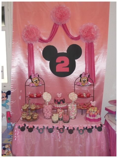 aniversário 2 anos Minnie bebê rosa