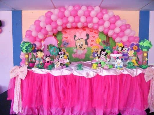 festa infantil da minnie bebê