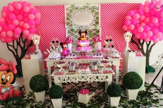 festa de 1 aninho da minnie rosa provençal