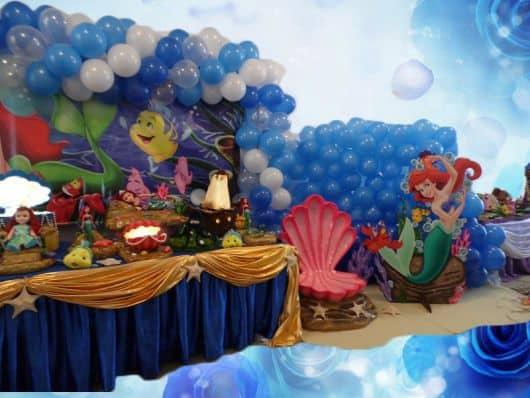 fazendo minha festa pequena sereia