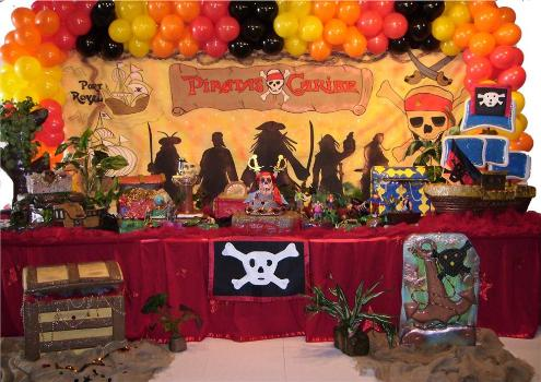 festa infantil piratas do caribe