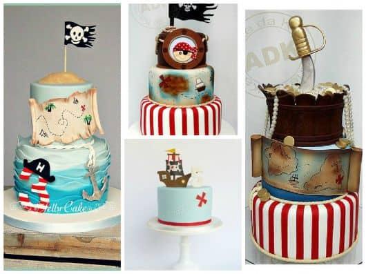 fotos de bolo pirata
