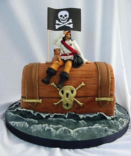 melhores bolos para festa pirata de crianças