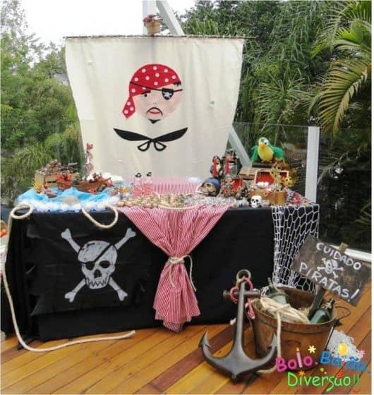 passo a passo de uma festa pirata