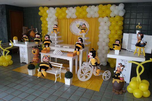 como enfeitar aniversário tema abelhinha