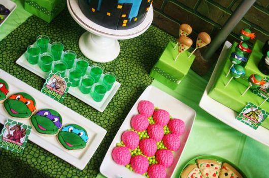doces para festa das tartarugas ninja