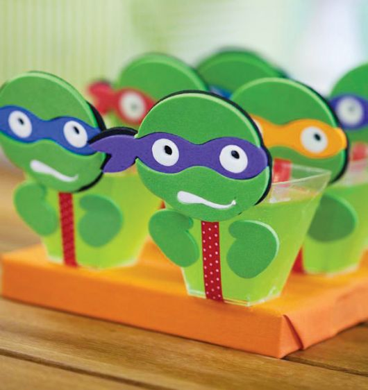 gelatina das Tartarugas ninja