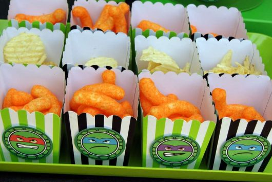 fotos de festa infantil das Tartarugas Ninja