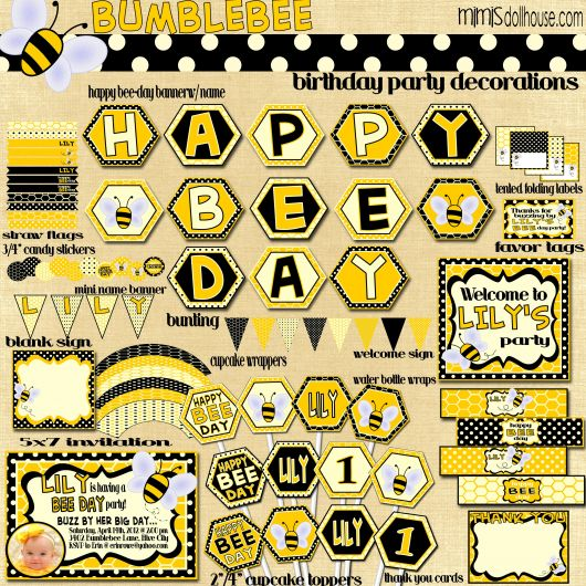 kit aniversário abelhinha para imprimir