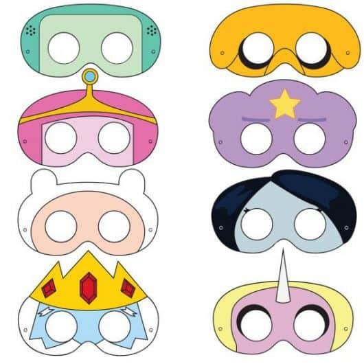 Máscaras dos personagens para imprimir