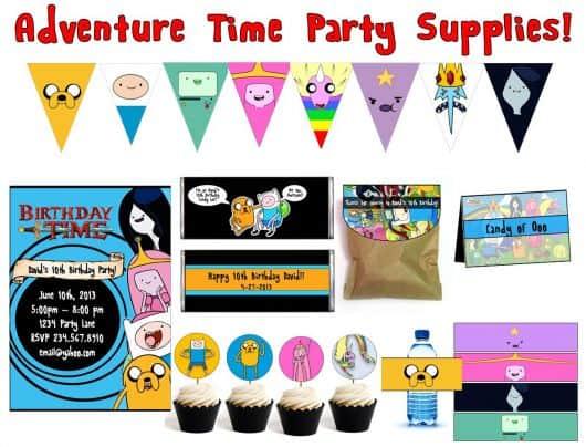 kit festa infantil hora de aventura