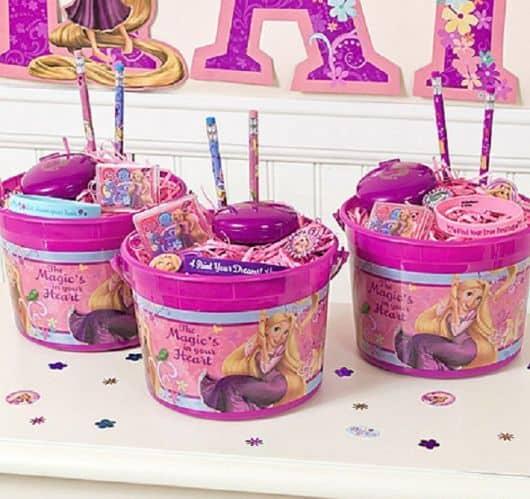 lembrancinha de festa rapunzel baldinho