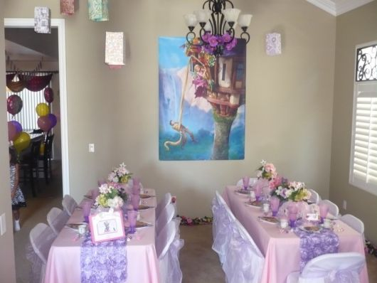 mesa convidados festa enrolados
