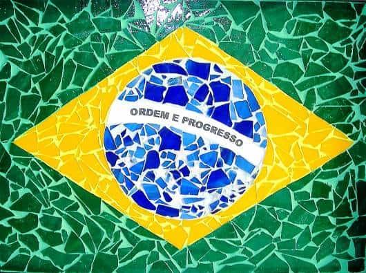 mosaico da bandeira do Brasil