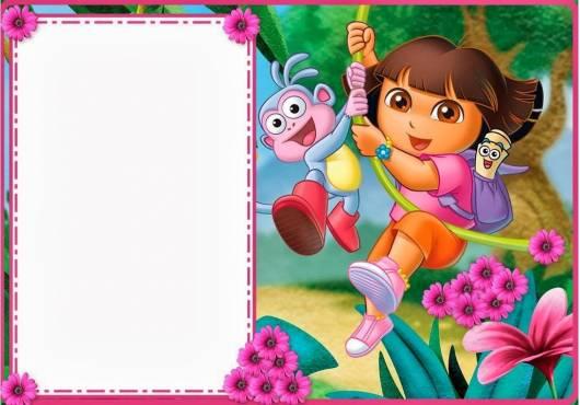 convite Dora aventureira feito em casa
