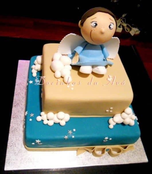 bolo de batizado anjo 2 andares