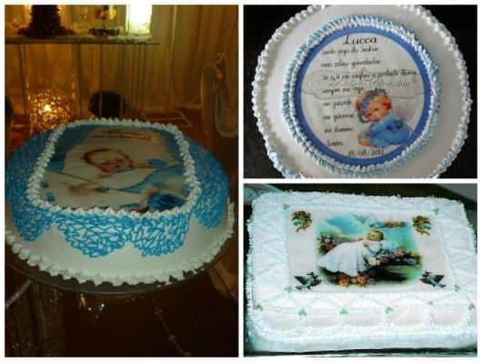 foto de bolo com arte católica