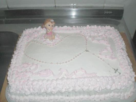 bolo de batizado com terço