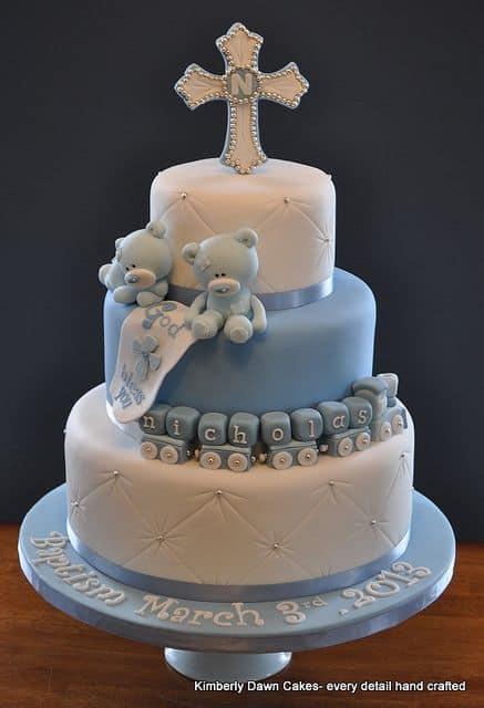 bolo de batizado masculino
