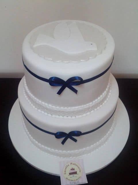 ideias de bolo de batizado de menino