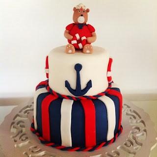 bolo urso marinheiro temático