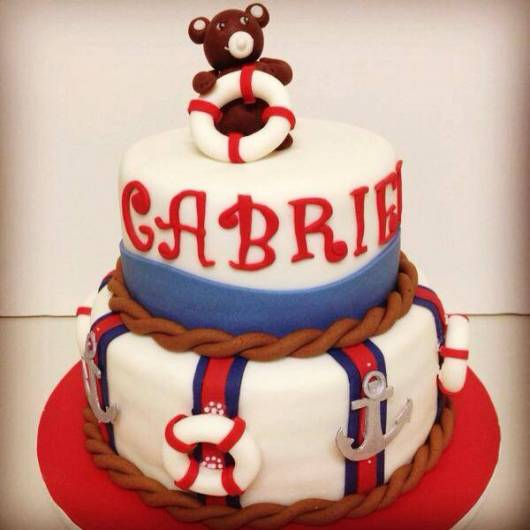 bolo baby marinheiro personalizado