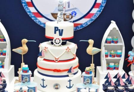 bolo para aniversário marítimo