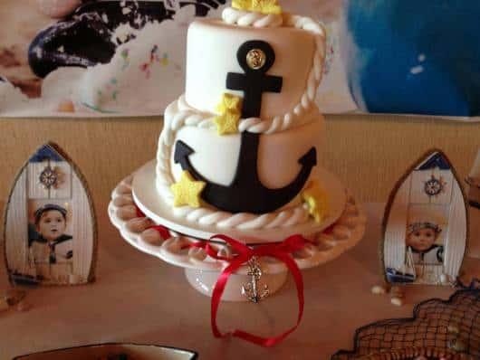 bolo decorado ancora