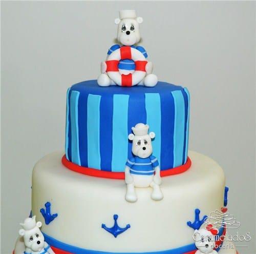 foto de ursinhos decorados no bolo