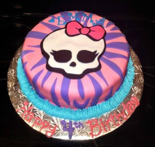 bolo decorado temático monster high