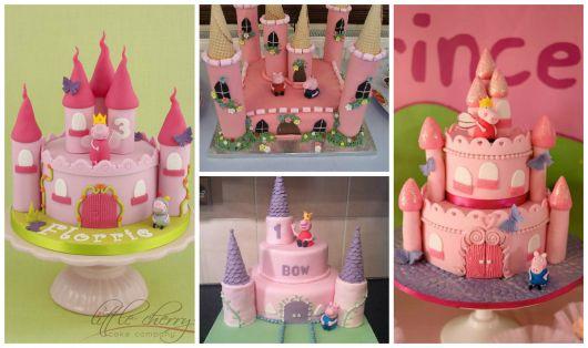 bolos castelo peppa pig princesa