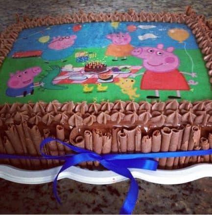 papel arroz para bolo peppa pig