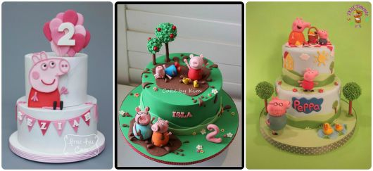 fotos de bolos peppa pig decorados