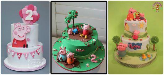 fotos de bolos peppa pig decorados