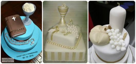 bolo de primeira eucaristia colorido e branco